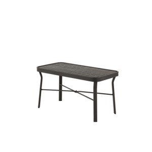 """Napa Punched Aluminum 18""""x34"""" Coffee Table"""