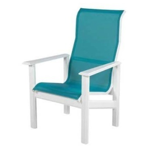 Hampton Sling High Back Dining Arm Chair