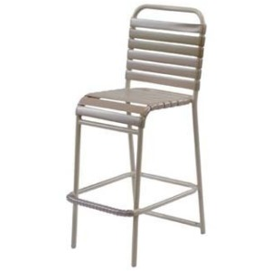 Country Club Strap Armless Bar Chair