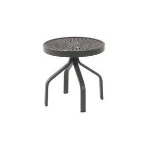 "Sunburst Punched Aluminum 18"" Side Table"