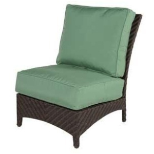 Palmer Wicker Armless Lounge Chair