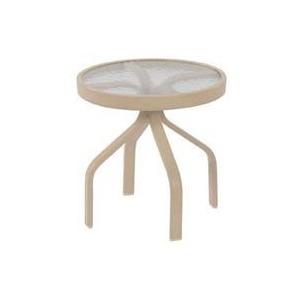 "Fiberglass Top 18"" Round Side Table"