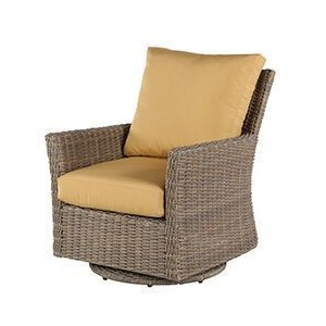 Oxford Wicker Lounge Chair Swivel Glider