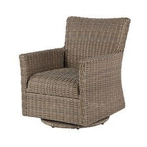 Oxford Woven Lounge Chair Swivel Glider