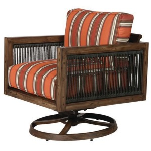 Belize Wicker Lounge Chair Swivel Rocker