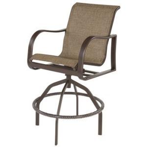 Corsica Sling Swivel Bar Chair
