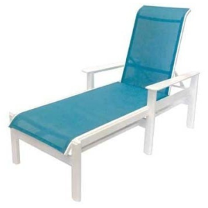 Hampton Sling Chaise Lounge w/Arms