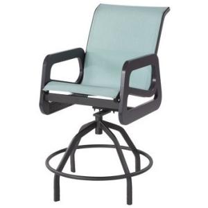 Mailbu Sling Swivel Bar Chair