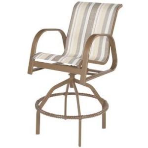 Anna Maria Sling Swivel Bar Chair