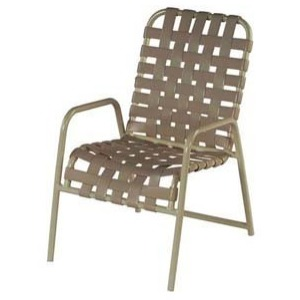 Country Club Strap Dining Arm Chair - Cross Weave