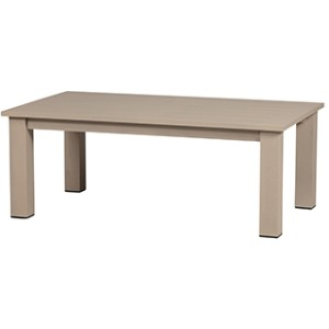 """27""""x48"""" Rectangle Etched Aluminum Coffee Table"""