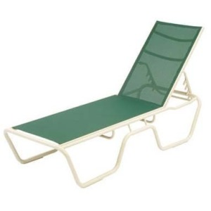 """Neptune Sling Armless Chaise Lounge 16"""" Seat"""