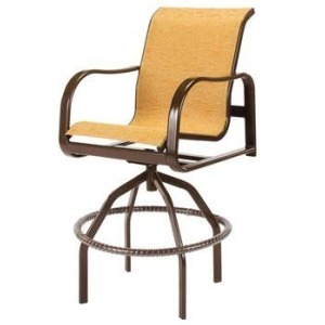 Sonata Sling Swivel Bar Chair