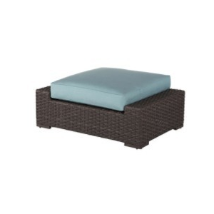 Georgia Wicker Ottoman