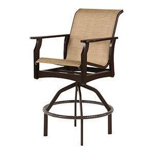 Covina Sling Swivel Bar Chair