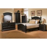 Cape Cod Panel Bed Suite in Ebony