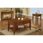 2-Drawer Coffee Table w/ Caster, 1-Drawer End Table, 2-Drawer Sofa Table