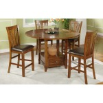 """60"""" Round Table with Granite Lazy Susan (36"""" H)"""
