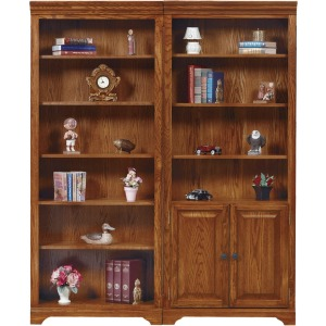 """79\"""" Open Bookcase and Bookcase with Doors"""