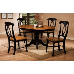 """42\"""" Round Single Pedestal Table with 15\"""" Butterfly Leaf"""