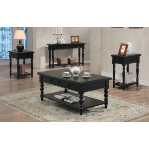 2-Drawer Coffee Table, 1-Drawer End Table, 2-Drawer Sofa Table and 1-Drawer Chairside Table
