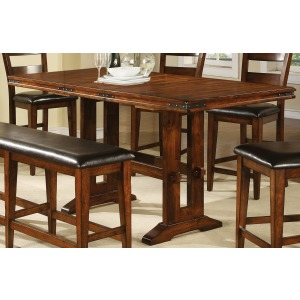 """Mango 78' Tall Table with 18"""" Leaf"""