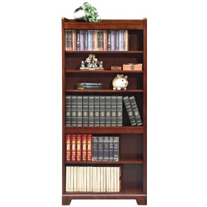"72"" Open Bookcase and Bookcase with Doors"