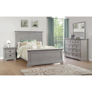 Tamarack Queen Panel Bed - Gray