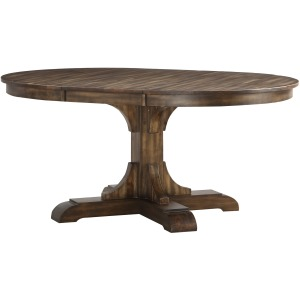 "66"" Pedestal Table w/18"" Leaf"