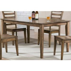 Carmel 60' Leg Table - Rustic Brown