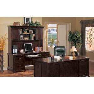 """72"""" Desk Hutch and 72"""" Credenza"""