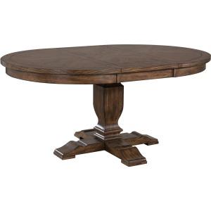 """Utica 66"""" Round Table w/ 18"""" Leaf"""