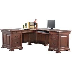 "Classic Cherry 72\"" Desk with 50\"" Return"
