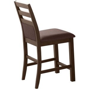 Cushioned Ladderback Bar Stool