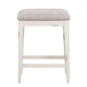 Woodbridge Cushion Backless Barstool - White