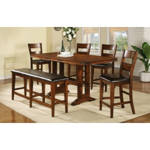 6 PC Tall Dining Set