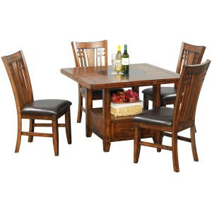 """60\"""" Round with Granite Lazy Susan (42\"""" H)"""