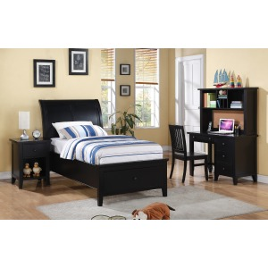 Sleigh Storage Twin Bed
