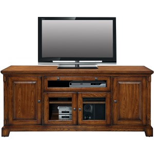 "Zahara 72"" Media Base - Medium Oak"