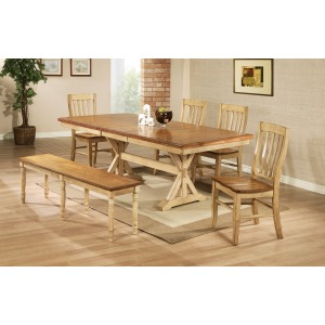 """84"""" Trestle Table with 18"""" Butterfly Leaf"""