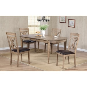 5pc Grandview Oval Table Set
