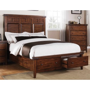 Mango 2-Drawer Footboard Storage Bed - King