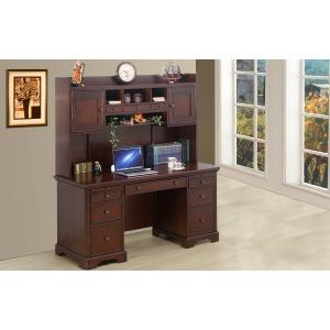 "66"" Flat Top Desk and Hutch"
