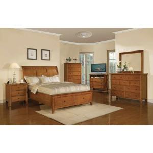 Vintage Sleigh Storage Bed Suite