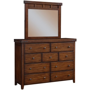 "Mango 58"" 9-Drawer Dresser with Mirror"