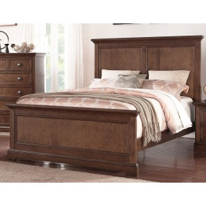 Tamarack Panel Queen Bed - Hazelnut