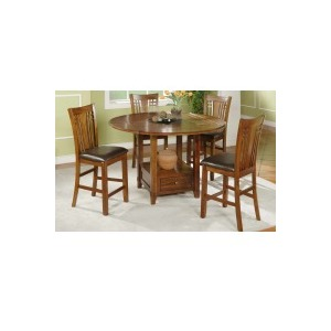 """60\"""" Round Table with Granite Lazy Susan (36\"""" H) & Cushioned Seat"""