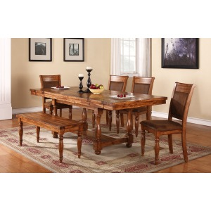 6 pc Dining Set w/Bench