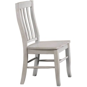 Carmel Rake Back Side Chair - Grey