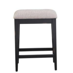 Woodbridge Cushion Backless Barstool - Ebony